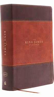 KJV The King James Study Bible Full Color Brown Dark Brown Leathersoft 9780718079826