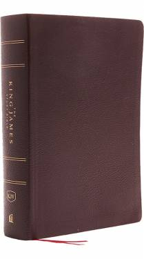 KJV The King James Study Bible Full Color Burgundy Bonded Leather 9780718079796