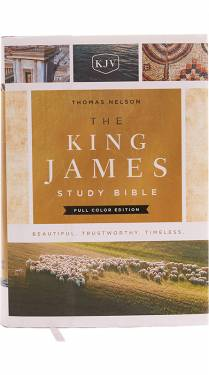 The King James Study Bible Full Color Hardcover 9780718079154