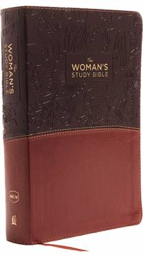 NKJV Woman's Study Bible Full Color Brown Burgundy Leathersoft 9780718086770