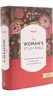 NKJV Woman's Study Bible Full Color Multicolor Hardcover 9780718086749