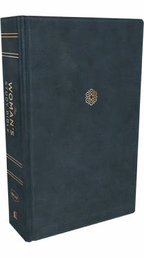 NKJV Woman's Study Bible Full Color Navy Leathersoft 9780785226444
