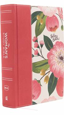 NKJV Woman's Study Bible Full Color Pink Floral Hardcover 9780718086824