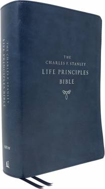 NIV Charles F. Stanley Life Principles Bible Second Edition Blue Leathersoft 9780785225607