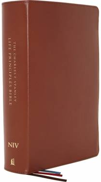 NIV Charles F. Stanley Life Principles Bible Second Edition Brown Genuine Leather 9780785225621