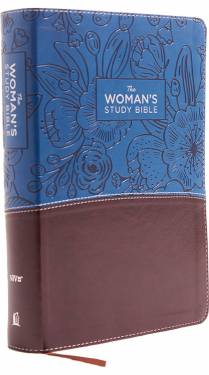 NIV The Woman's Study Bible Full-Color Blue brown Leathersoft 9780785215110