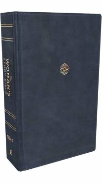 NIV Woman's Study Bible Full-Color Navy Leathersoft Indexed 9780785239369