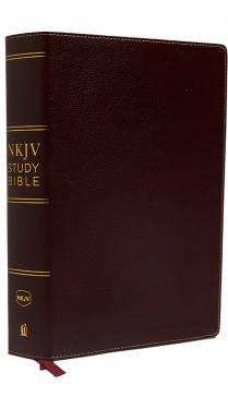 NKJV Study Bible 2 color Burgundy Bonded Leather 9780785220565