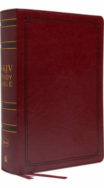 NKJV Study Bible 2 color Crimson Leathersoft 9780785220602