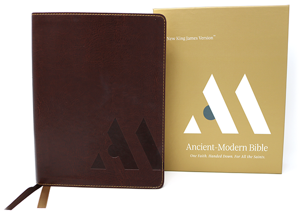 Ancient Modern Bible brown leathersoft
