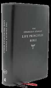 Charles F. Stanley Life Principles Bible KJV black 176x300