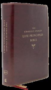 Charles F. Stanley Life Principles Bible NKJV burgundy 170x300