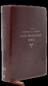 Charles F. Stanley Life Principles Bible NKJV burgundy 167x300