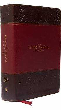 KJV Study Bible Full color burgundy leathersoft 9780718079789