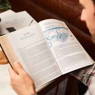 Man reading the ESV Bible