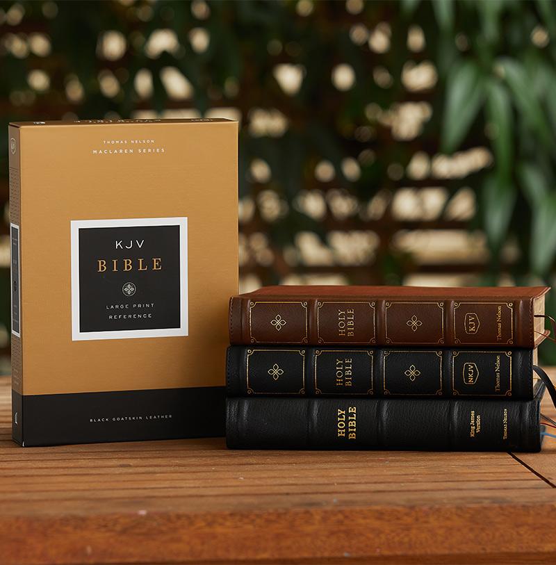 KJV Large Print Reference Bible Maclaren Series photo
