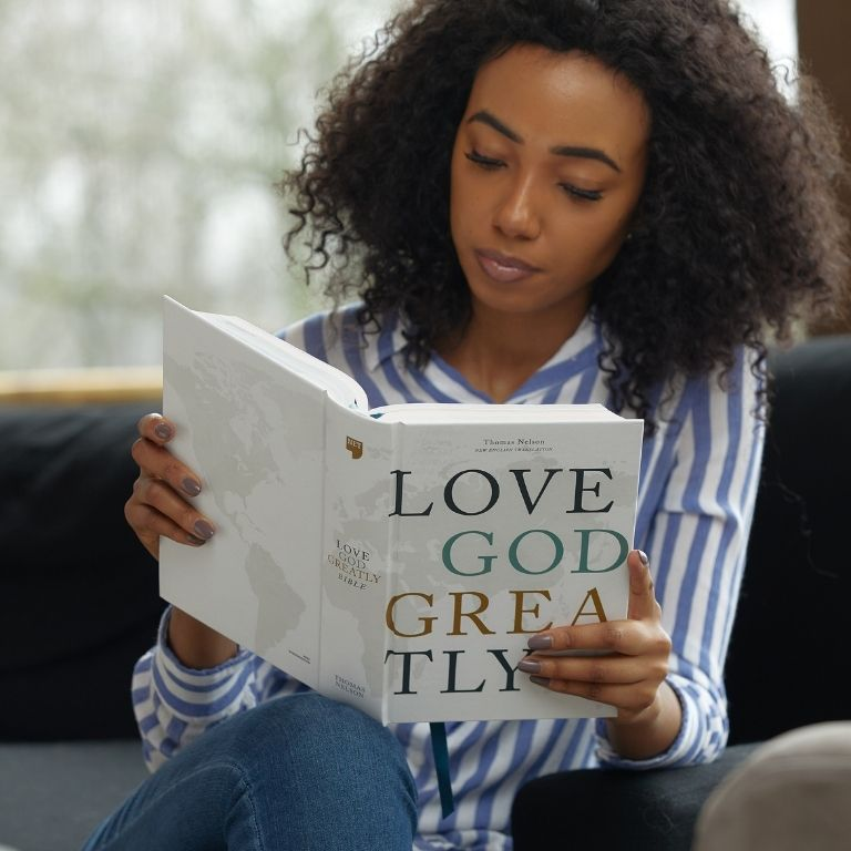 Love God Greatly Bible Cover