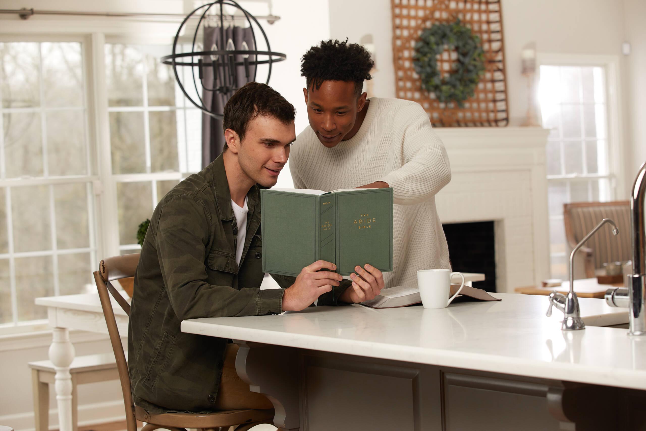 two friends reading abide bible 21 days in john invite a friend